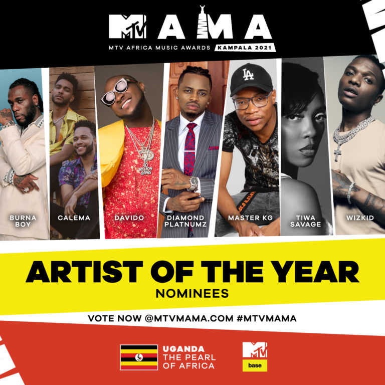 See the Full List of 2021 #MTVMAMA Nominees including Tems ...